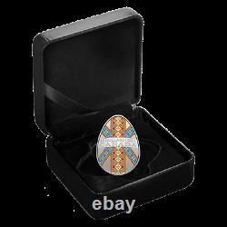 2021 Canada Ukrainian Pysanka Egg Shaped $20 1 oz Fine Proof Silver Coin RCM