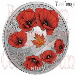 2021 Lest We Forget A Wreath of Remembrance $20 Pure Silver Proof Coin Canada