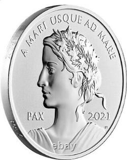 2021'Peace Dollar' High-Relief Proof $1 Fine Silver 1oz. Coin(RCM 179014)(19001)