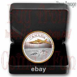 2021 The Avro Arrow CF-105 $50 5 OZ Pure Silver Proof Coin Canada
