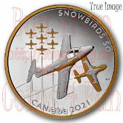 2021 The Snowbirds Canadian Legacy CT-114 $50 5 OZ Pure Silver Proof Coin