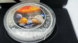 2021 The Solar System 5 oz. $50 Pure Silver Coin Canada Glow in the Dark