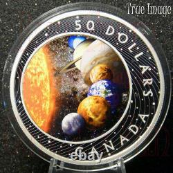 2021 The Solar System $50 Pure Silver Glow-In-the-Dark Proof Coin Canada
