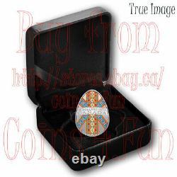 2021 Traditional Ukrainian Pysanka $20 Proof Silver Egg-Shaped Coin