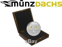 $250 Dollar In the Eyes of Snowy Owl 1 kilo kg. 9999 Silver Canada 2014 proof