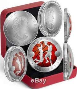 Basketball Invention 125th Anniv 2016 1OZ Silver Proof $25 Convex Coin Canada