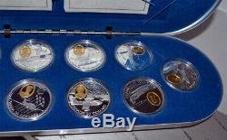 CANADA 10 x $20 1995-99 Silver/Gold Proof Set Powered Flight Second 50 Years