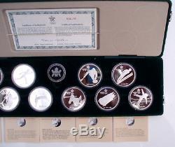 CANADA 10x 20 Dollars 1985-88 Calgary Winter Olympics BU Proof Silver With COA 7