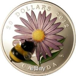 CANADA 2012 $20 Aster with Glass Bumble Bee Proof Fine Silver Coin