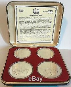 Canada 1976 Olympic Proof Silver Coins 3 4 Coin Sets From A Huge Collection