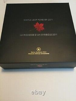 Canada 2011 Maple Leaf Forever Sugar Maple $250 1 Kilogram Kilo Silver. 9999