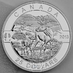 Canada 2013 $25 Caribou 1 oz. Pure Silver Proof Coin O Canada Series #4