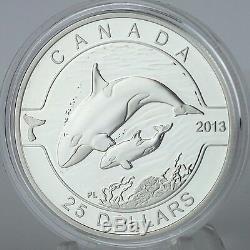 Canada 2013 $25 Orca 1 oz. 99.99% Pure Silver Proof Coin O Canada Series #5