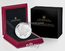 Canada 2013 25th Anniversary SML $50 5 Oz Pure Silver Maple Leaf Reverse Proof