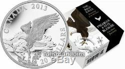 Canada 2013 Bald Eagle #3 Returning from the Hunt $20 Proof 1 Oz Pure Silver