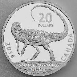 Canada 2014 $20 Canadian Dinosaurs Scutellosaurus 1 oz Pure Silver Proof Coin
