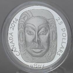 Canada 2014 $25 Matriarch Moon Mask 99.99% Pure Silver Ultra-High Relief Proof