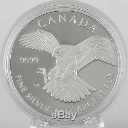 Canada 2014 $5 Peregrine Falcon 1 oz. 99.99% Pure Silver Proof Coin