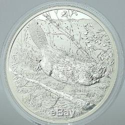 Canada 2014 $50 Swimming Beaver 5 Troy Oz. Pure Silver Uncirculated Proof Coin