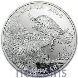Canada 2014 Bald Eagle $100 1 Oz Pure Silver Matte Proof Coin Perfect