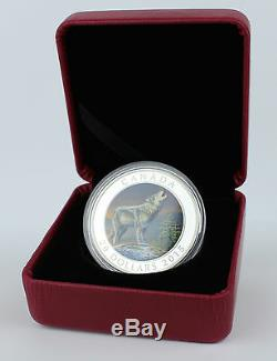 Canada 2015 $20 The Wolf 1 Troy oz. 99.99% Pure Silver Uncirculated Color Proof
