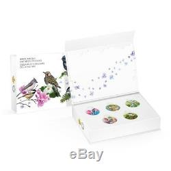 Canada 2015 5 x 10$ Colourful Songbirds Of Canada Silver Coin Proof Set 5 Coins