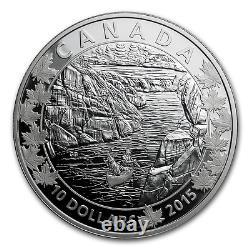 Canada 2015 6 x 10$ Canoe Across Silver Proof Set 6 Coins WITH BOX CANOE