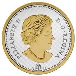 Canada 2015 Big Coins Series #3 Bluenose 10 Cents 5 Oz Silver Proof Gold Plated