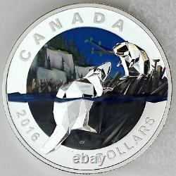 Canada 2016 $20 Geometry in Art Beaver 1 oz 99.99% Pure Silver Color Proof Coin