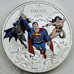 Canada 2016 DC Comics Originals The Trinity 99.99% Pure Silver Color Proof
