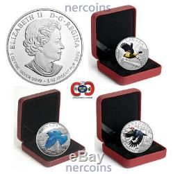 Canada 2016 Migratory Birds $20 x 4 Coins Colored Silver Proof Set Perfect