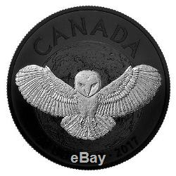 Canada 2017 20$ Nocturnal By Nature The Barn Owl 1 1 Oz Silver Proof Coin