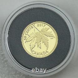 Canada 2017 The Silver Maple Leaf 1/25 oz. Pure Gold 50-cents Proof Coin