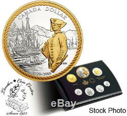 Canada 2018 240th Anniv. Of Captain Cook at Nootka Sound Silver Proof Coin Set