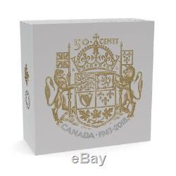 Canada 2018 75th Anniversary 1943 Half Dollar 2 Oz Silver Masters Club 50 Cents