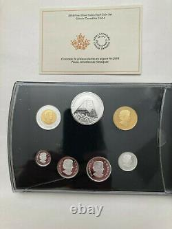 Canada 2018 Classic Coinage Color 7 Coin Mint Medal Silver Proof Set READ BELOW
