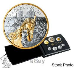 Canada 2019 75th Anniversary of D-Day Pure Silver 7 Coin Proof Set