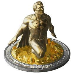 Canada 2019 Superman Last Son of Krypton Sculpture $100 10 Oz Silver Proof Coin