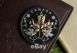 Canada 2020 Black Maple Leaf In Motion 5oz Silver Proof