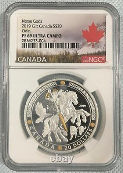 Canada Norse Gods ODIN Silver Proof coin PF69