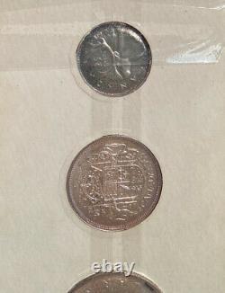 Canada Silver 1955 Mint 6 Piece Proof PL Set Unc Better date GEMS Proof Like