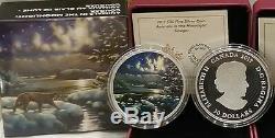 Cougar Moonlight Glow-Dark $30 2017 2OZ Pure Silver Proof Canada Coin