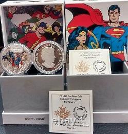 DC COMICS ORIGINALS THE TRINITY $20 2016 1OZ Pure Silver Proof Coin Canada