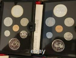 Double Dollars 1974 -1982 Canada Proof Sets with Silver 9 Set Lot