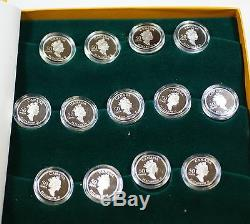 Festivals of Canada 50 Cent Proof Set- 13 Sterling Silver Proof Coins withBox& COA