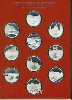 Great Canadian Landmarks Sterling Silver 50 Proof Medals 1.20 OZ Each 60 OZ Mint