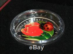 LOT of 7 $20 SILVER COINS/ CANADA VENETIAN GLASS -2011 LADYBUG TO 2015 Turtle