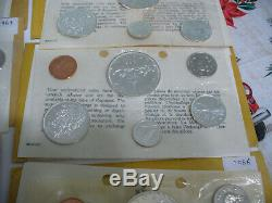 Lot Of 10 1963-67 Canada Silver Proof Like Sets Coins High Grades Sealed