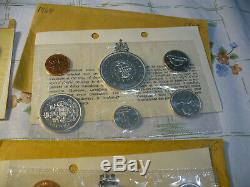 Lot Of 7 1961-67 Canada Silver Proof Like Sets Coins High Grades Sealed