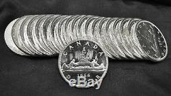 Lot of 20 1966 Canada Proof-Like Uncirculated Silver Dollars